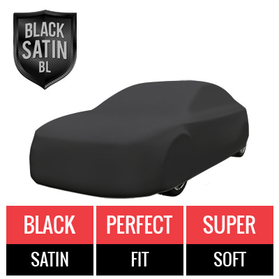 Black Satin BL - Black Car Cover for Ferrari Testarossa 1991 Coupe 2-Door