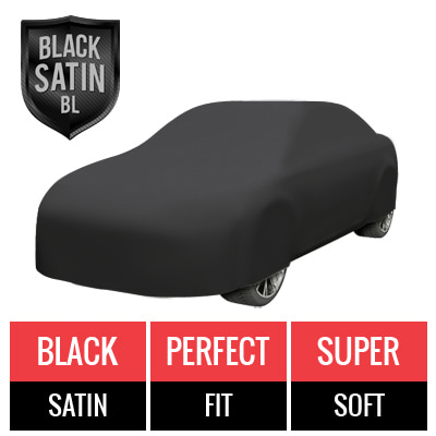Black Satin BL - Black Car Cover for Genesis G90 2018 Sedan 4-Door