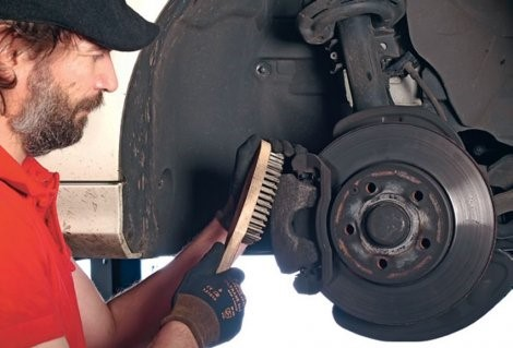 Clean your brakes monthly